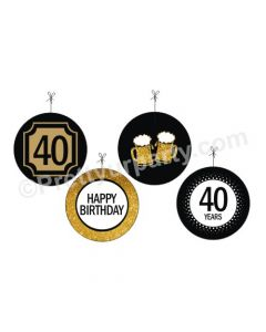 Cheers to 40th Birthday Theme Danglers
