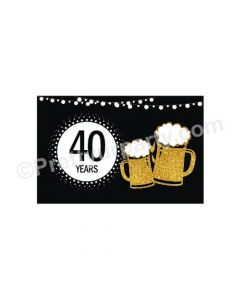 Cheers to 40th Birthday Theme Table Mats