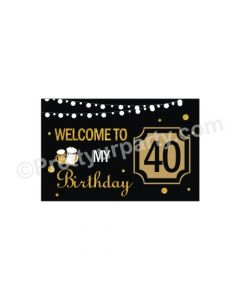 Cheers to 40th Birthday Theme Entrance Banner / Door Sign