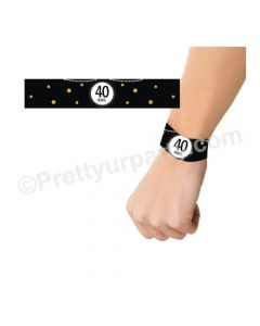 Cheers to 40th Birthday Theme Wrist Bands