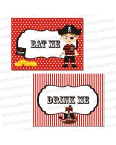 pirate food labels / buffet table cards