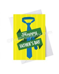 Father's Day Happy Fathers Day Tie Card - Yellow