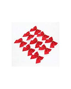 Red Christmas Tree Bow Decoration