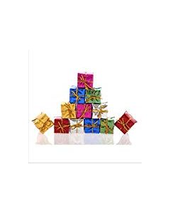 Gift Box Shape Christmas Tree Ornaments