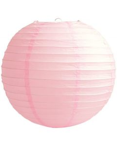 Plain Baby Pink Round Paper Lamp - Pack of 3
