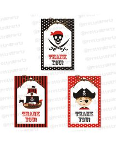 pirate thankyou cards