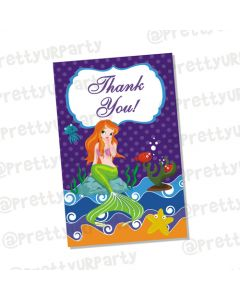 Mermaid  Thankyou Cards