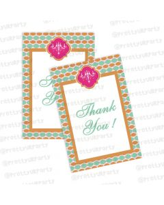 vintage glam thankyou cards