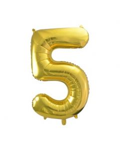 "Foil 5 Number Balloon 16"" - Gold"