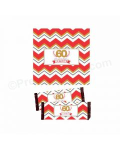 60th Birthday Theme Chocolate Wrappers