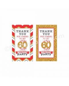 60th Birthday Theme Thankyou Cards