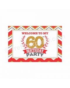 60th Birthday Theme Entrance Banner / Door Sign