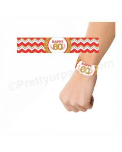 60th Birthday Theme Wrist Bands