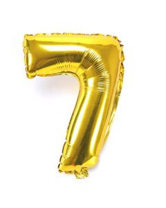 "Foil 7 Number Balloon 18"" - Gold"
