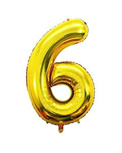 "Foil 6 Number Balloon 18"" - Gold"