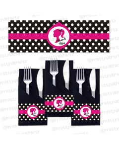 barbie  napkin rings