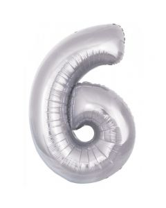 foil 6 number balloon