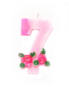 7 number Rose Candle