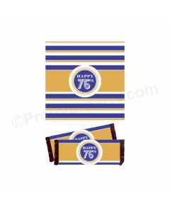 75th Birthday Theme Chocolate Wrappers
