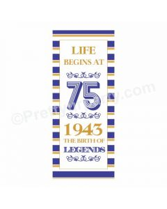 75th Birthday Theme Door Banner