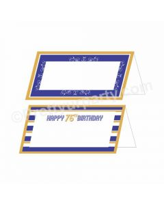 75th Birthday Food Labels / Buffet Table Cards