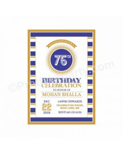 75th Birthday Theme Invitations
