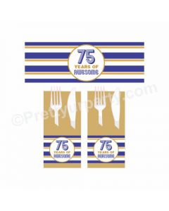 75th Birthday Theme Napkin Rings