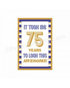 75th Birthday Poster 01