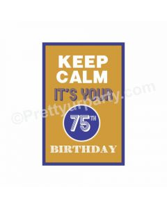 75th Birthday Poster 03