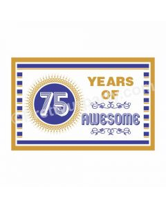 75th Birthday Theme Table Mats