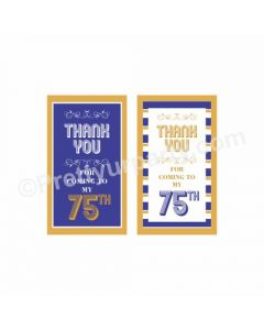 75th Birthday Theme Thankyou Cards