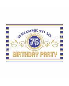 75th Birthday Theme Entrance Banner / Door Sign