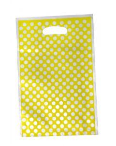 Yellow Polka Dots Loot Bag