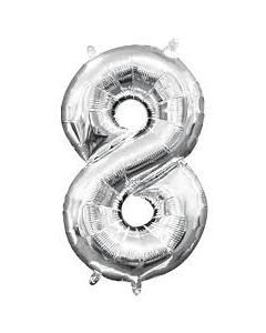 foil 8 number balloon
