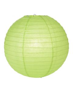 """Green Round Paper Lamps 14"""""""
