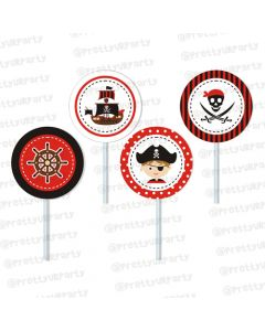 pirate cupcake / food toppers