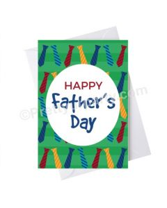 Father's Day Happy Fathers Day with Ties Card