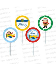 little aviator cupcake / food toppers