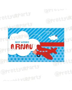 Airlines themed Best Wishes card