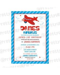Airlines Theme E-Invitations