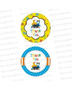 Alphabets and Train theme Thankyou Cards