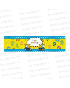 Alphabets and Train theme Wrist Bands