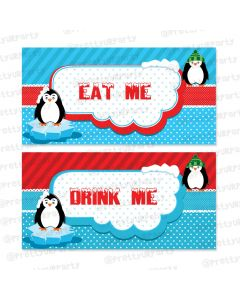 arctic love theme food labels / buffet table cards