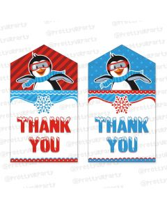 arctic love theme thankyou cards