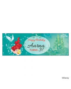 Personalized Ariel the Mermaid Birthday Banner 36in