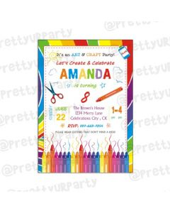 Art & Craft Party Invitations