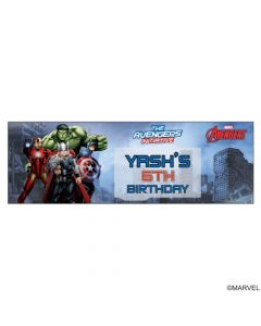 9069b2ecd2d2 Personalized Avengers Birthday Banner 36in