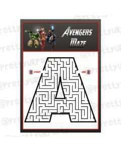Avengers Maze Game