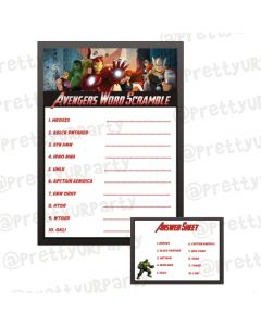 Avengers Word Scramble Game