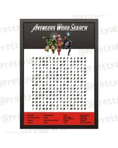 Avengers Word Search Game